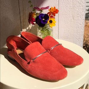 Dolce Vita Orange Suede Colton Loafers Shoes 7.5